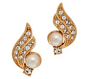 Grace Kelly Collection Simulated Pearl Crescent Earrings - J346326