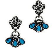 American West Kingman Turquoise Sterling Silver Earrings - J347526