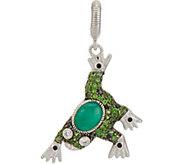Judith Ripka Sterling Silver 0.55 cttw Multi Gemstone Frog Charm - J347926