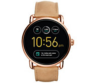 Fossil Q Smart Watch Wander- Light Brown Leather Strap - J348926