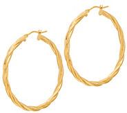 Italian Gold 1-1/2 Round Twisted Hoop Earrings 14K Gold - J353726