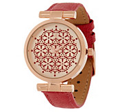 As Is Isaac Mizrahi Live! Lace Dial Strap Watch - J355926