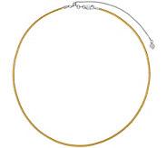14K Reversible Adjustable Omega Necklace, 9.0g - J376626