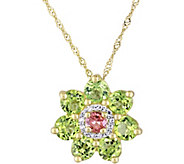 Laura Ashley Sterling 2.35 cttw Gemstone & Diamond Necklace - J379526