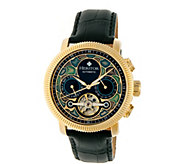 Heritor Automatic Aura Watch - Goldtone/Black - J380326