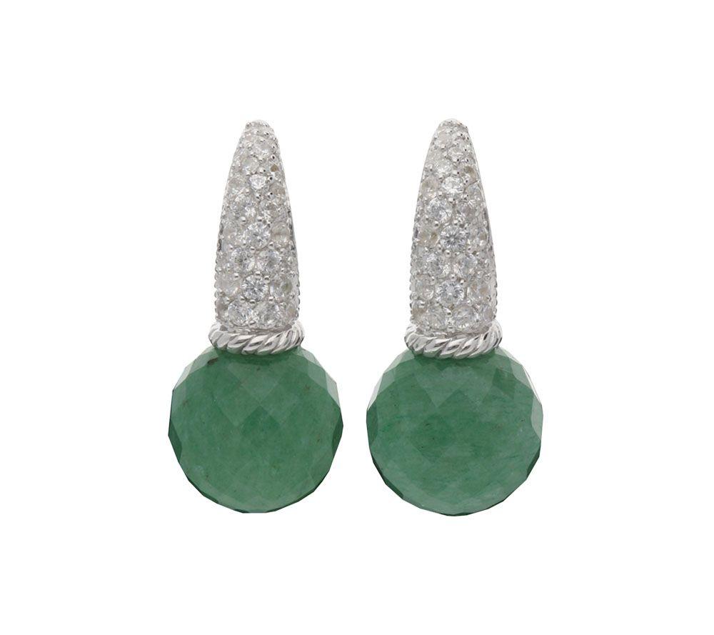 Judith ripka jewelry collection qvc judith ripka sterling diamonique gemstone drop earrings j381426 arubaitofo Image collections