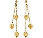 Italian Gold Diamond-Cut Beaded Dangle Earrings14K, 2.9g - J382226