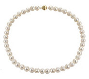 Honora Cultured Pearl 9.0mm Semi-Round 18 Necklace, 14K - J102627