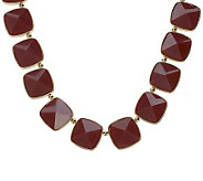 Luxe Rachel Zoe Faceted Peaked Stone Necklace - J263227