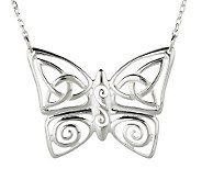 JMH Jewellery Sterling Silver Celtic Butterfly Pendant - J273927