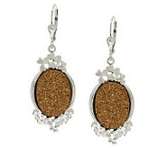 JMH Jewellery Sterling Silver Shamrock Drusy Quartz Earrings - J276127