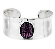As Is Dominique Dinouart Sterl. Avg. Dichroic Glass Cuff - J280427