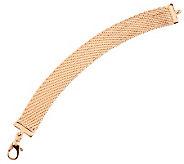 As Is Bronzo Italia 7-1/2 Bold Diamond Cut Riccio Bracelet - J280927