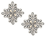 JAI Sterling & 14K Accent Bali Lanna Button Earrings - J286027