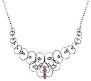 Carolyn Pollack Sterling & Pink Sapphire Statement Necklace - J288827