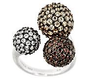 Judith Ripka Sterling 6.50cttw Diamonique Pave Multi-Bead Ring - J288927