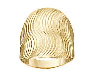 14K Gold Polished & Textured Swirl Design Ring - J289627