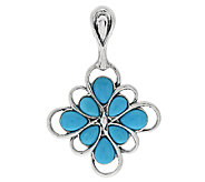 Carolyn Pollack Sleeping Beauty Turquoise Sterling Enhancer - J291527