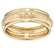 EternaGold Crystal Cut & Polished Band Ring 14K Yellow Gold - J294127