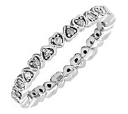 Simply Stacks Sterling and Diamond 2.25mm HeartEternity Ring - J299227
