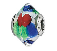Prerogatives Blue/Green/Red Italian Murano Glass Bead - J300227