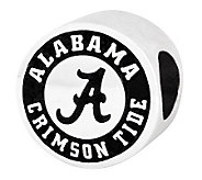 Sterling Silver University of Alabama Bead - J300727