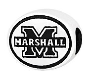 Sterling Silver Marshall University Bead - J300827