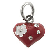 Mixers Sterling Enamel & Crystal Heart Pendant - J304727