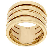14K Gold Polished Four Row Band Ring - J319427