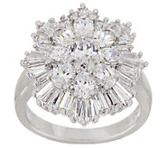The Elizabeth Taylor 3.70cttw Simulated Diamond Cluster Ring - J319827