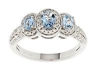 As Is 0.55 ct tw Santa Maria Aquamarine & Diamond Ring, 14K Gold - J322027