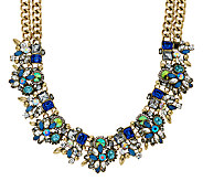 Joan Rivers Crystal Collage Statement Necklace with 3 Extender - J322727