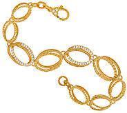 Judith Ripka Sterling & 14K Clad Diamonique 8 Bracelet - J323327
