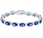 Elizabeth Taylor Simulated Sapphire Tennis Bracelet - J323527