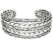Carolyn Pollack Sterling Silver Signature Multi-Row Cuff, 35.0g - J323727