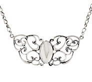 As Is Carolyn Pollack Filigree 17 Sterling Necklace - J325627