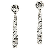 JAI Sterling Silver Sukhothai Texture Stick Earrings - J326427