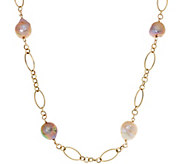 Honora Ming Cultured Pearl 20 Multi-link Necklace 14K Gold 4.1g - J328427