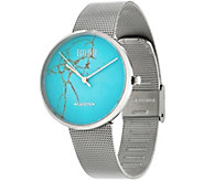 Ecclissi Facets Gemstone Dial Stainless Steel Adjustable Watch - J330327