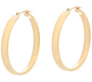14K Gold 1-1/4 Round Polished Wedding Band Hoop Earrings - J330427