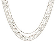 As Is Judith Ripka Sterling 18 Multi-Chain Verona Necklace 77.0g - J332427