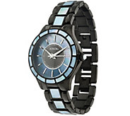 As Is Honora Mother-of-Pearl Round Case Stainless Steel Bracelet Watch - J335527