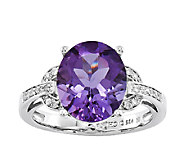 Sterling Choice of Oval Gemstone w/ Interlocking Shank Ring - J336627