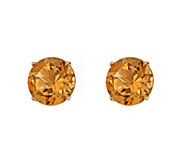 5mm Round Semi-Precious Gemstone Stud Earrings,14K Yellow - J337927