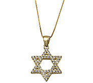 Adi Paz Crystal Star of David Pendant with Chai n, 14K Gold - J338327