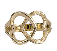 14K Gold Interlocking Hearts Ring by Adi Paz - J338627