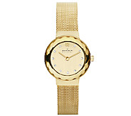 Skagen Womens Goldtone Mesh Bracelet Watch - J339327