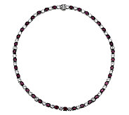 Judith Ripka Sterling Rose Garnet & DiamoniqueTennis Necklace - J340027