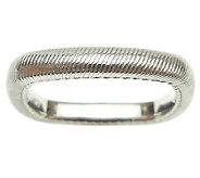 Judith Ripka Sterling Fine Textured Square Ring - J340727