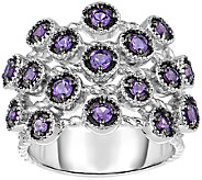 Sterling Amethyst Ring w/ Rope Texture - J341327